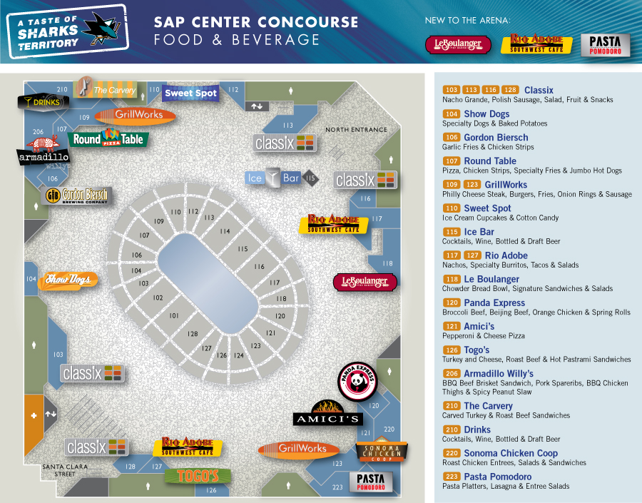 Food_and_Beverage_Concourse_Map Sap Center Seating Map on sap center tickets, sap seating-chart hockey, sap concert seating, sap center sharks seating-chart, sap center events, sap theater seating, sap center hotels, sap center suites, sap center twitter, sap center santa clara, sap center parking, sap center san jose, sap center schedule,
