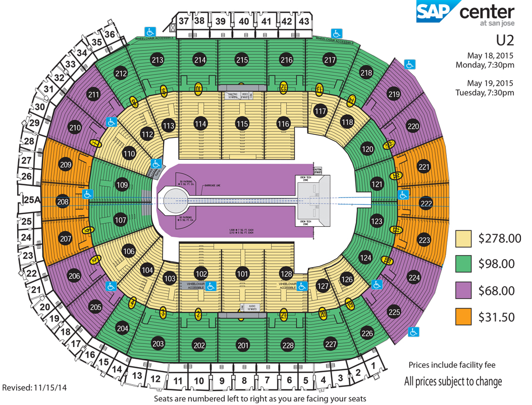 O2 Arena Floor Plan Stage Design Merged Page 2 U2 Innocence Experience